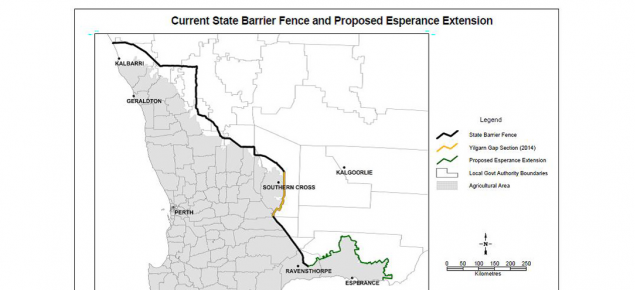 map of State Barrier Fence