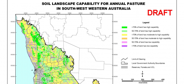 Example of a soil landscape capability map