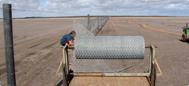 Repairing State Barrier Fence