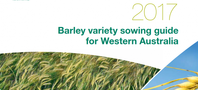 Image of the barley variety guide front cover