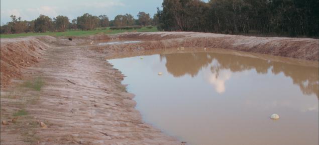 View of a farm dam