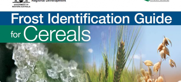 Frost ID Guide for Cereals front cover