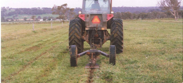 Tractor Water Drain : Mole drainage agriculture and food
