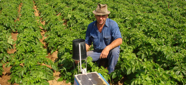 Equipment used in soil moisture monitoring