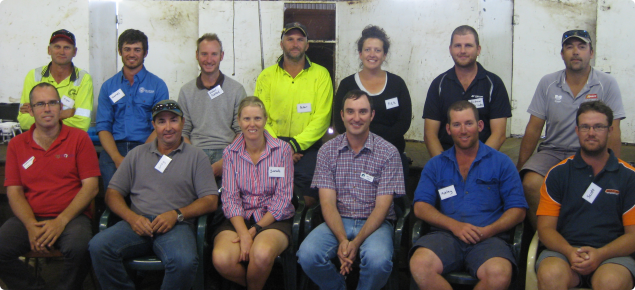 photo of the on farm technology pilot group with DAFWAs John Paul Collins