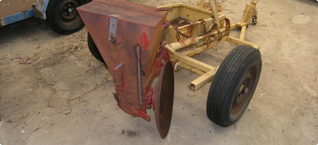 Full view of towed disc drive rabbit-bait layer