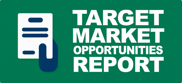 graphic with text - Target Market Opportunities Report