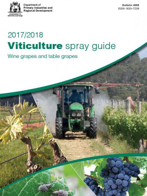 Viticulture spray guide cover