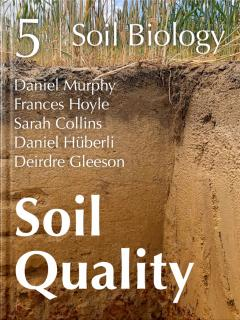 Book cover showing a closeup of dirt.