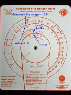 Photo of a McArthur Grassland Fire Danger Meter
