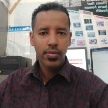 Portrait of man in an office