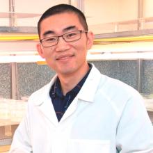 Portrait of man in a laboratory coat