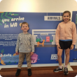 image of children in front of board
