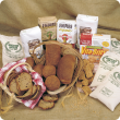 Basket of breads and flour
