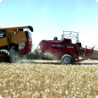 Baling crop residue directly from the header