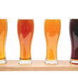 Picture of different beer varieties in glasses