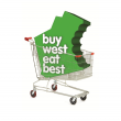 Buy West Eat Best logo in a shopping trolley.