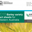 The barley variety fact sheets front cover