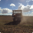2014 Cunderdin Nitrogen trial 14NO17 being seeded