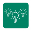 three light bulbs icon graphically reflecting the how-how tool