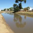 Wagin runoff collection weir near the Shire's Vernon Street depot