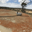 Thanks to newly installed IoT equipment on this tank, Moora farmer Daniel Gardiner was alerted to the fact that it had run dry.