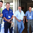 Participants at the La Grange workshop included (from left to right) DAFWA Principal Research Scientist Dr Richard George, Matt Howard (Shelamar Station), DAFWA Research Officer Bob Paul, water consultant Sam Burton and Jim Trandos, also from Shelamar.