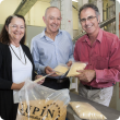 Photo captions: Department of Agriculture and Food (DAFWA) Trade Development Liaison Officer Carolyn Hine, Lupin Foods Australia General Manager David Fienberg and DAFWA Grains Industry Executive Director Dr Mark Sweetingham.