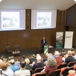 speaker with participants at the 2016 Agribusiness Sheep Updates event