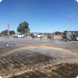 Irrigation unit in a dry paddock