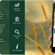 MyWeedWatcher application information page: displays a smartphone with application in use