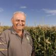 Grower Nick Trandos stands in an export corn crop