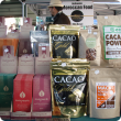 Products on display at a farmers' market