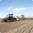 An air seeder seeding on stubble