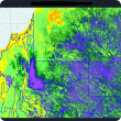 Screen capture of a high resolution image of estimated total green biomass from the PRS application