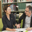 DAFWA officers talking in library