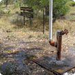 Photograph of an artesian bore on an aquifer