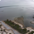 Drone footage taken by DAFWA Research Officer Nick Wrigh shows the road into Hopetoun was washed away by the flood waters