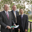 Photo caption: Hon Ken Baston MLC, Rob Delane and Consul General Dr Huang Qinguo at the WA-China conference held at the State Reception Centre