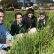 Students from Western Australia College of Agriculture Harvey visiting DAFWA  to learn about barley crops.