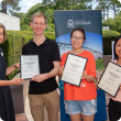 Young professionals in Agriculture Forum winners with DPIRD award presenter