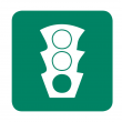 graphic icon of a traffic light