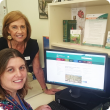 Dr Deb Cousins and Dr Tamrika Lanoiselet, of the Department of Agriculture and Food, look over the weed surveillance website where landholders can take part in selecting five priority weeds for a new surveillance program.