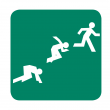 Runner at startling line icon